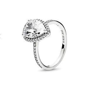 New Pandora Sparkling Teardrop Ring Sterling Silv.